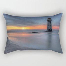 Sunset at the Lighthouse v3 Rectangular Pillow