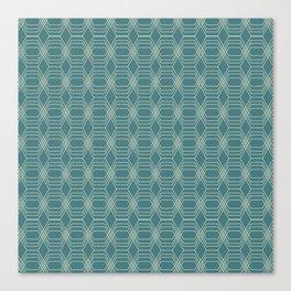 hopscotch-hex navajo Canvas Print
