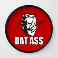 ass Wall Clocks featuring Dat Ass by Spooky Dooky