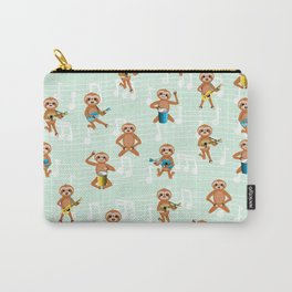 Sloth music pattern Carry-All Pouch