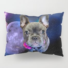 Dog French Bulldog and Galaxy Pillow Sham