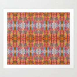 Muticolored Shibori Tie Dye Art Print