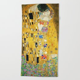 Gustav Klimt The Kiss Beach Towel