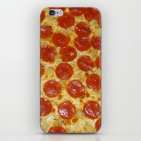 pizza iPhone & iPod Skins featuring Pizza by Katieb1013