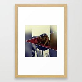 rustic/vintage rose Framed Art Print