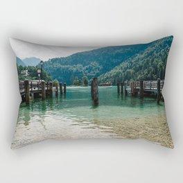 Pier in Konigssee lake Rectangular Pillow