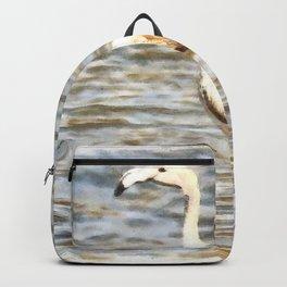 Pretty Flamingo Fledgling Watercolor Backpack