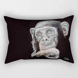 a Jane Goodall quote - black Rectangular Pillow