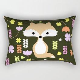 Fox among flowers II Rectangular Pillow