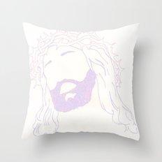 Holy Jesus II Throw Pillow