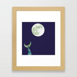 Mermaid tail with Moon Framed Art Print