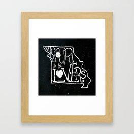 Missouri is for Lovers Framed Art Print