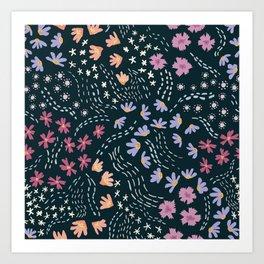 Flowers on the Summer Wind Art Print