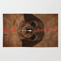 shih tzu Area & Throw Rugs featuring Shih-Tsu by Det Tidkun