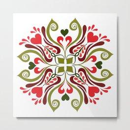 Hungarian Tulip design Metal Print
