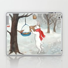 Filling the Bird Feeder Laptop & iPad Skin