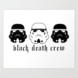 Black Death Crew Buckets Art Print