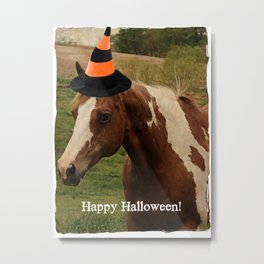 Happy Halloween Paint Horse Metal Print