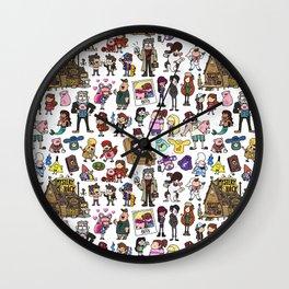 Cute Gravity Falls Doodle Wall Clock