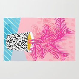 No Can Do - hipster abstract neon 1980s style memphis print palm springs socal los angeles desert Rug