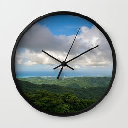 P El Yunque National Forest Rain forest Puerto Rico Wall Clock