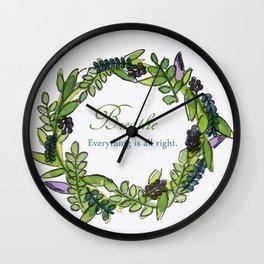 Message Wreath Wall Clock