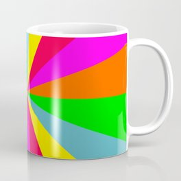 Neon Rainbow Burst Coffee Mug