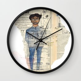about a boy Wall Clock