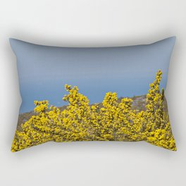 Landscape on mountain with blue sky Rectangular Pillow