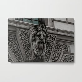 Stone Eyes Carved Keystone Architectural Detail London England Metal Print
