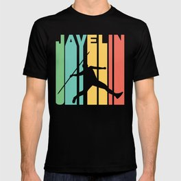 Retro Style Javelin Throw Track And Field T-shirt