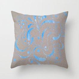 marbled design Throw Pillow