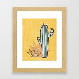 Simply Cactus Framed Art Print