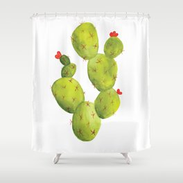 Prickly Pear Cactus Shower Curtain