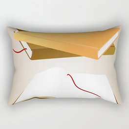 Books with background Rectangular Pillow