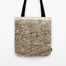Vintage Pictorial Map of Hyde Park MA (1890) Tote Bag