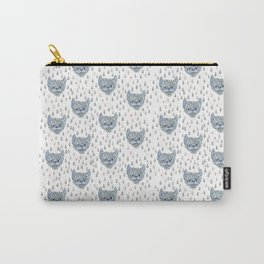 Inky Bat Pattern Carry-All Pouch