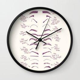 FunnyBrows Wall Clock