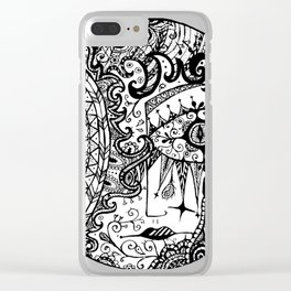 Crying Moon Clear iPhone Case