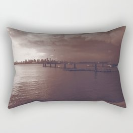 Downtown Vancouver cityscape and skyline Rectangular Pillow