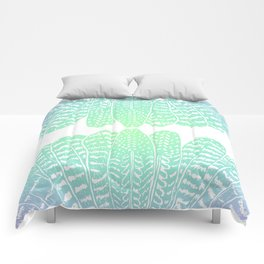 TRIBAL FEATHERS - SEAFOAM Comforters
