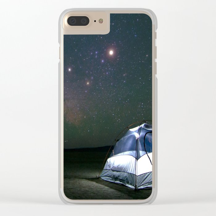 Dreaming of Adventure Clear iPhone Case