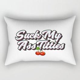 Suck My Ass Titties Rectangular Pillow
