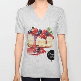 Watercolor Cheesecake Unisex V-Neck