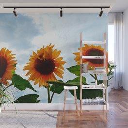 Deformed Sunflower Wall Mural