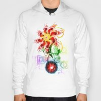 techno Hoodies featuring Techno Flower by Andrew Sebastian Kwan