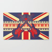 british Canvas Prints featuring British Rock by Ornaart