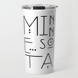 Minnesota Typography Travel Mug