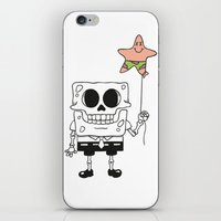 spongebob iPhone & iPod Skins featuring Spongebob Skull by Zhi-Yun