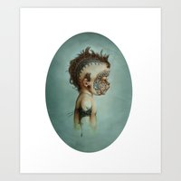 dick Art Prints featuring Dick by ashcloud